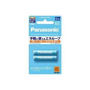 【メール便専用6個まで注文可】Panasonic パナソニック エネループ eneloop lite 単4形 2本パック(お手軽モデル) BK-4LCC/2