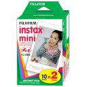 【送料無料 あす楽対応】FUJIFILM チェキ用フィルム 2本パック instax mini 2PK(20枚)x5個(100枚)