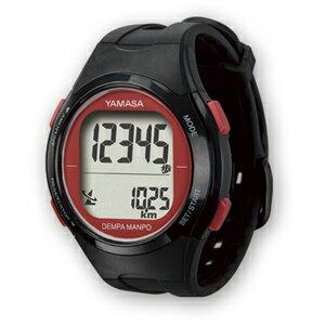 【あす楽対応】YAMASA ヤマサ 電波時計内蔵・腕時計型歩数計 ウォッチ万歩計 DEMPA MANPO TM-500 B/R ブラック/レッド