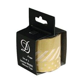 ナカバヤシ 和紙マスキングテープD tape/3本パック/15MM DT15-3P-23【お取り寄せ】