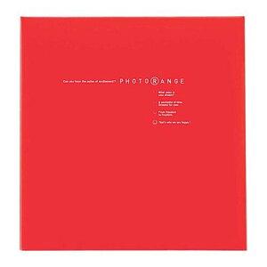 ナカバヤシ フォトアルバム フエルアルバム 白フリー台紙 Lサイズ 20枚 フォトレンジ レッド 20L-92-R