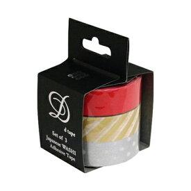 ナカバヤシ 和紙マスキングテープD tape/3本パック/15MM DT15-3P-17【お取り寄せ】