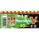 富士通 FDK アルカリ乾電池 TOPV 単4形10個パック(10本セット) お買得パック LR03(10S)TOPV