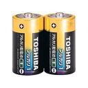 TOSHIBA(東芝)単1アルカリ電池 2本パック LR20AG 2KP