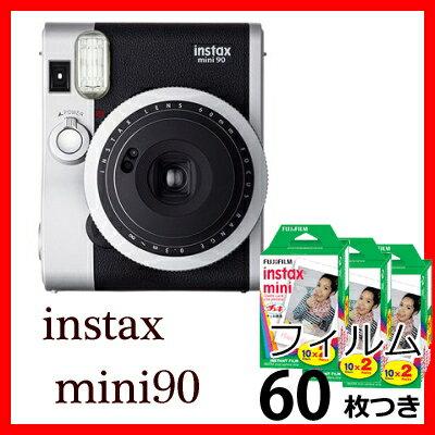 フジフイルム チェキ instax mini 90ネオクラシック チェキフィルム60枚付