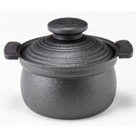 アピデ 2合炊きアルミ炊飯鍋16cm 土鍋風 IH対応 ブラック ククナキッチン KKN-RC02BK