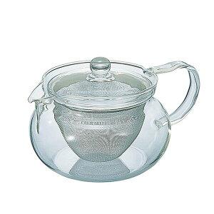 ハリオ おいしさが見える茶茶急須・丸 450ml HARIO CHJMN-45T 季節を問わず使用できる耐熱ガラス製ティーポット