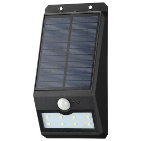 OHM オーム電機 ソーラーセンサーウォールライト200lm 常夜灯付 ブラック LS-S120FN4-K