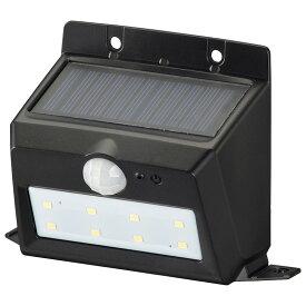 OHM オーム電機 ソーラーセンサーウォールライト200lm 置型ブラック LS-S120PN4-K