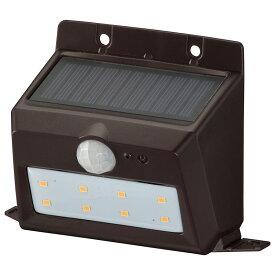OHM オーム電機 ソーラーセンサーウォールライト200lm 置型ブラウン LS-S120PN4-T