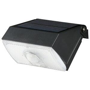 OHM オーム電機 LEDセンサーライト ソーラー式 小型タイプ LS-S1080ST4-K