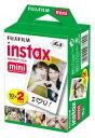 【送料無料 あす楽対応】FUJIFILM チェキ用フィルム 2本パック instax mini 2PK(20枚)x60個(1200枚)
