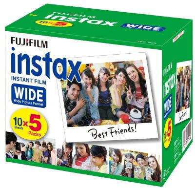 FUJIFILM インスタントカメラ instax ワイド用フィルム インスタックスワイドフィルム 5本パック