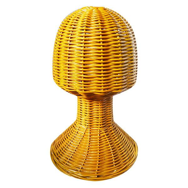 籐製 帽子スタンド 【送料無料】 帽子置き キャップスタンド ラタン製 キャップ ヘットマネキン ウィックスタンド スタンド オシャレ 流行