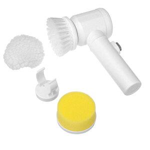 【送料無料】強力パワフルスクラバー 電動ブラシ 水回り 蛇口 洗面台 シンク 浴槽 ブラシ スポンジ 磨き 通販