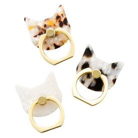 フラワーリング スマートフォンリング アセチネコ スマホリング かわいい スマホリング おしゃれ スマホリング 猫リング 大人可愛い キャット 猫グッズ ネコ ねこ iphone リング 可愛い スマホリング シンプル スマホリング ホワイト アイフォン8 アイホン8 アイホンxs
