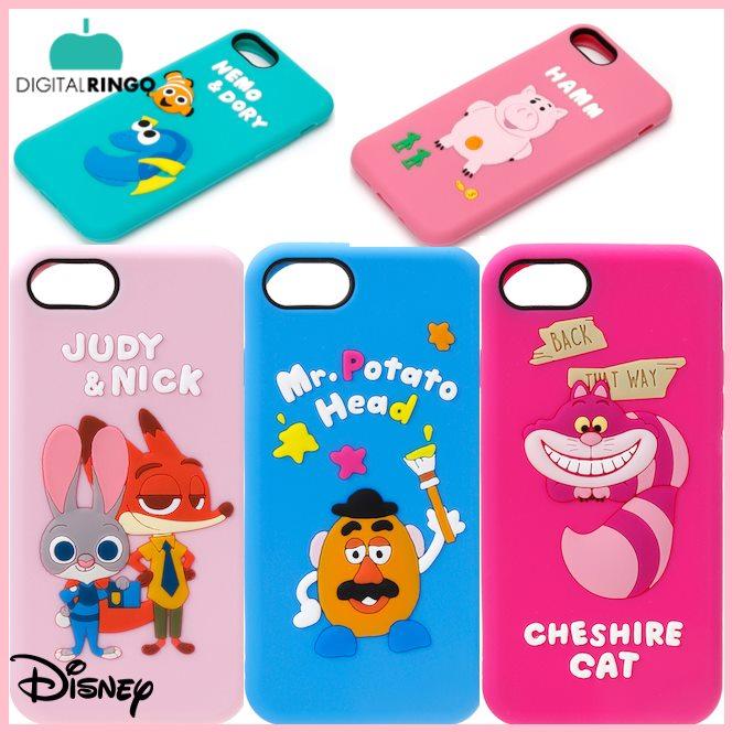 iPhone8/7 ディズニーシリコンケース 2iPhone7 ケース ディズニー Disney エイリアン ポテトヘッド トイストーリー ハム マイク チェシャ猫 ズートピア キャラクターケース ディズニーシリコンケース iPhone7シリコンケース ファインディングニモ