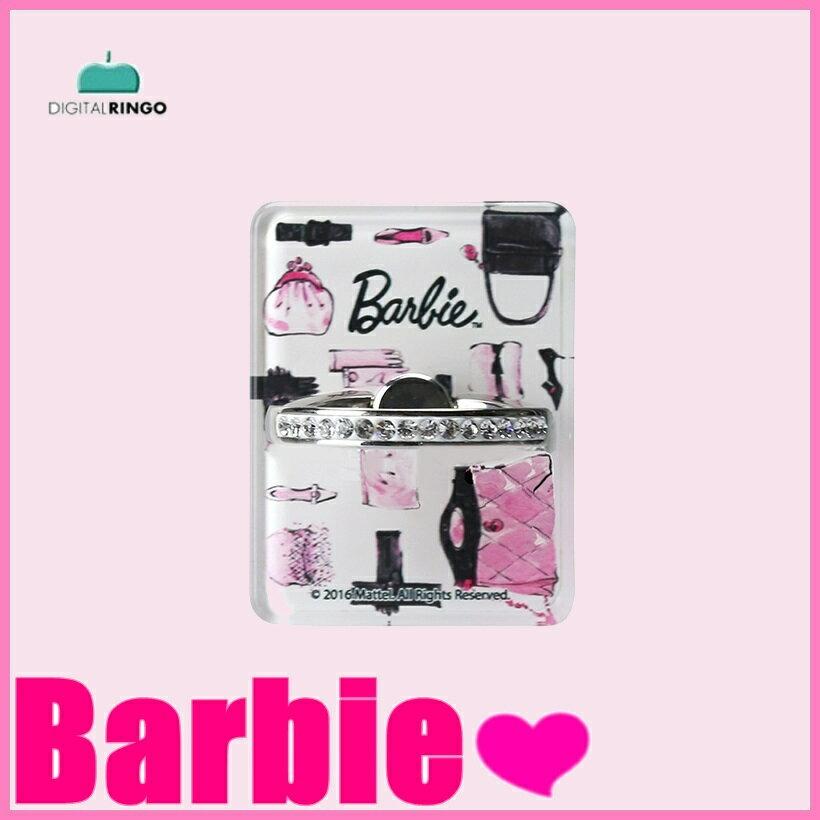 【メール便送料無料】Barbie Design Grip Ring【バッグ柄】barbie iphone スマホリング バンカーリング バービー ラインストーン かわいい スタンド機能 キラキラ スマートフォン アイフォン スマホリング ブランド バービー iphone おしゃれ ピンク 可愛い フィンガーリング