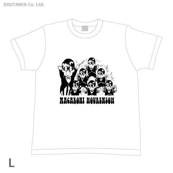 YUTAS マカロニほうれん荘 分身トシちゃん Tシャツ 白 Lサイズ◆ネコポス送料無料(ZG55291)
