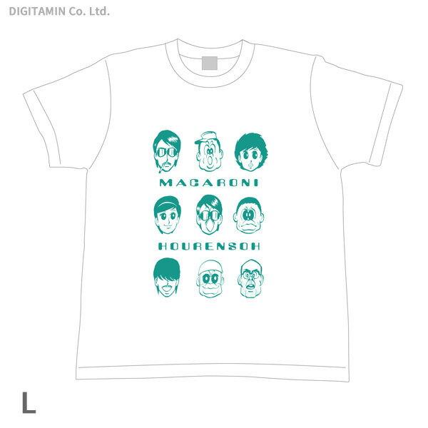 YUTAS マカロニほうれん荘 キーメンバー Tシャツ 白 Lサイズ◆ネコポス送料無料(ZG55296)