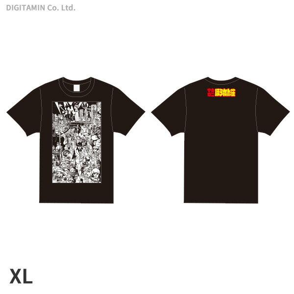 YUTAS マカロニほうれん荘(七味先生) Tシャツ 黒 XLサイズ◆ネコポス送料無料(ZG55317)