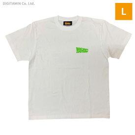 YUTAS バック・トゥ・ザ・フューチャーTシャツ BTTF グラデーションロゴ WH Lサイズ◆ネコポス送料無料(ZG74697)