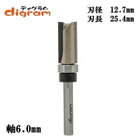 トリマービット トップベアリング トリム パターン 6mm軸(刃径12.7mm)Microtungsten carbide【dm32504】