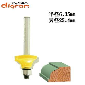 트리머 비트 아 첨부 ギンナン 베어링 9.5 mm 1/4 축 (반경 6.35 mm) Microtungsten carbide