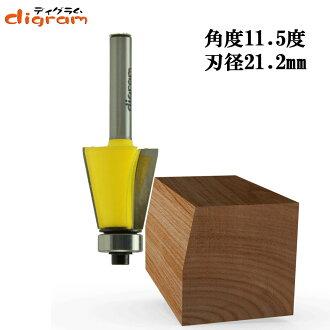 트리머 비트사각면 11.5도1/4축(인경 21.2 mm ) Microtungsten carbide