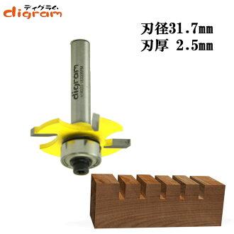 트리머 비트박슬롯 커터1/4축(인후 2.5 mm ) Microtungsten carbide