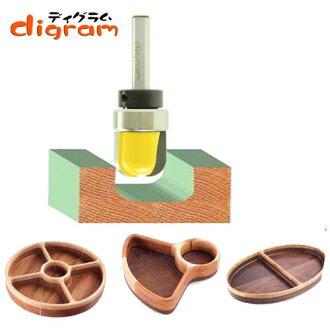 트리머 비트 Bowl&Tray (베어링 ) 1/4축Microtungsten carbide