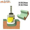 トリマー ビット ディッシュ カッター ベアリング付 (大) 1/4軸 Microtungsten carbide 【dm12807】