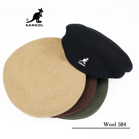 【楽天スーパーセール!30%OFF SALE】KANGOLカンゴール 男女兼用ユニセックスWool 504 Hunting Cap ウール 504 ハンチング帽 Mサイズ197-169001【セール品 返品・交換不可】