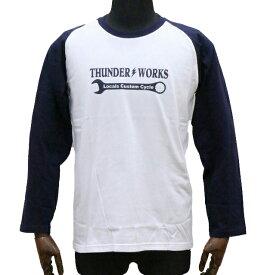 エアフィッシュ 【AirFish】 THUNDER WORKS ロングTシャツ 【ホワイト/ネイビー】
