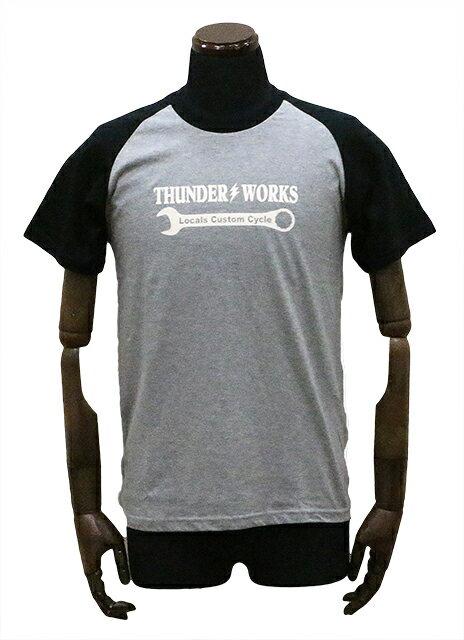 エアフィッシュ 【AirFish】 THUNDER WORKS Tシャツ 【ヘザーグレー/ブラック】