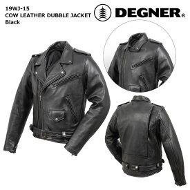 デグナー 【DEGNER】 カウレザーダブルジャケット (ブラック) 【19WJ-15】