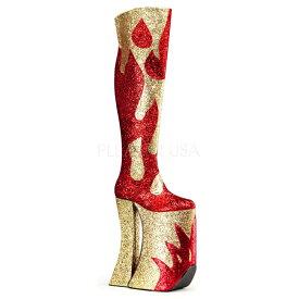 【取寄】 送料無料 PLEASER プリーザー ブーツ 28cmヒール 大きいサイズ 靴 イベント セクシー サンタ 女装 パーティ- クリスマス コスプレ 衣装 シューズ