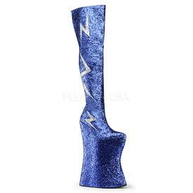 【取寄】 送料無料 PLEASER プリーザー ブーツ 34.5cmヒール 大きいサイズ 靴 イベント セクシー サンタ 女装 パーティ- クリスマス コスプレ 衣装 シューズ