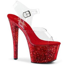 取寄せ靴 送料無料 PLEASER プリーザー サンダル 18cmヒール 大きいサイズあり イベント セクシー サンタ 女装 パーティ- クリスマス コスプレ 衣装 シューズ