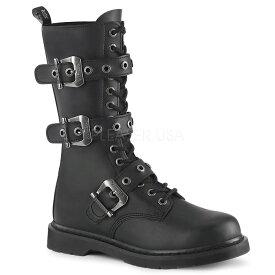 取寄 DEMONIA デモニア ショートブーツ メンズ 3cm ヒール 黒 ブラック ビーガンレザー 大きいサイズ 靴 22.5 23 23.5 24 24.5 25 25.5 26 26.5 27 27.5 28 28.5 29 29.5 30 30.5 31 31.5 32 cm センチ BOLT-330 BOLT330/BVL