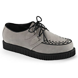 【取寄】 DEMONIA デモニア パンプス メンズ グレー スエード 大きいサイズ 靴 22.5 23 23.5 24 24.5 25 25.5 26 26.5 27 27.5 28 28.5 29 29.5 30 30.5 31 cm センチ CREEPER-602S CRE602S/GY