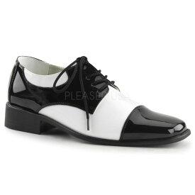 取寄せ靴 FUNTASMA ファンタズマ ディスコ シューズ メンズ2.5cm ヒール 黒 ブラック 白 ホワイト 大きいサイズあり 26 26.5 27 27.5 28 28.5 29 29.5 30 30.5 31 31.5 32 cm センチ