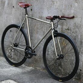 CARTEL BIKES AVENUE LO CHROME BROOKS BROWN【自転車 バイク スポーツバイク 完成品 クロモリ 軽量 カスタム カスタムバイク ベース フリーギア 固定ギア 初心者 シンプル おしゃれ クローム】