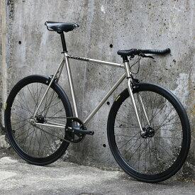 CARTEL BIKES AVENUE LO CHROME BROOKS BLACK【自転車 バイク スポーツバイク 完成品 クロモリ 軽量 カスタム カスタムバイク ベース フリーギア 固定ギア 初心者 シンプル おしゃれ クローム】