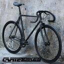 ピストバイク 完成車 カーテルバイク CARTEL BIKE AVENUE MAT BLACK 【自転車 バイク スポーツバイク 完成品 クロモリ…