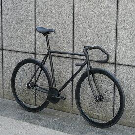 【 SPECIAL PRICE 】ピストバイク 完成車 CARTEL BIKES AVENUE MAT BLACK AERODASH CRANKSET CUSTOM 【 自転車 バイク スポーツバイク 完成品 クロモリ 軽量 カスタム カスタムバイク ベース フリーギア 固定ギア 初心者 シンプル おしゃれ 黒 ブラック 】