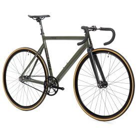 ピストバイク 完成車 STATEBICYCLE 6061 BLACK LABEL V2 Army Green ステイトバイシクル【自転車 バイク スポーツバイク 完成品 アルミ 軽量 カスタム カスタムバイク ベース フリーギア 固定ギア 初心者 シンプル おしゃれ 緑 グリーン】