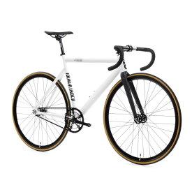 ピストバイク 完成車 STATEBICYCLE 6061 BLACK LABEL V2 Pearl White ステイトバイシクル【自転車 バイク スポーツバイク 完成品 アルミ 軽量 カスタム カスタムバイク ベース フリーギア 固定ギア 初心者 シンプル おしゃれ 白 ホワイト】