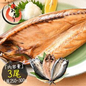 干物 さば サバ 鯖 特大サイズ 約250〜300g×3尾 トロサバ とろさば