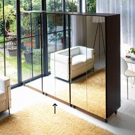 家具 収納 衣類収納 ワードローブ クローゼット 移動式間仕切りクローゼットハンガー ミラー扉タイプ・ハンガー2段 LR0050